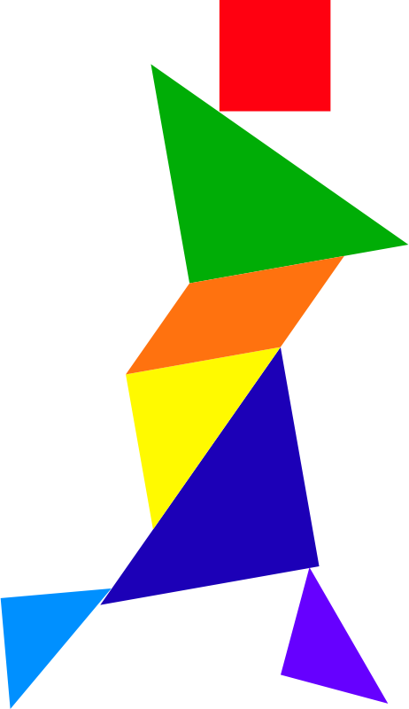 Tangram by dominiquechappard - A tangram; a colored Chinese puzzle