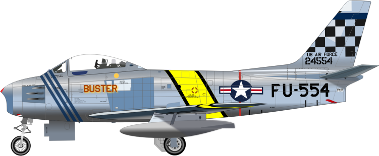 F-86F FIGHTER by charner1963 - F 86 F PLANE MADE WITH INKSCAPE