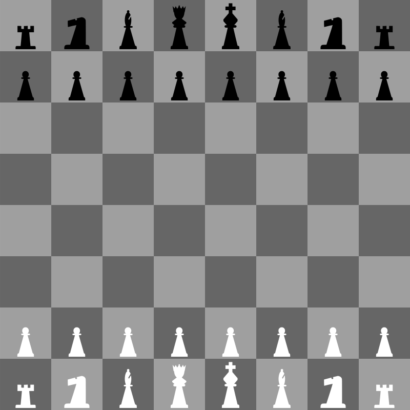 2D Chess set - Chessboard 2 by portablejim