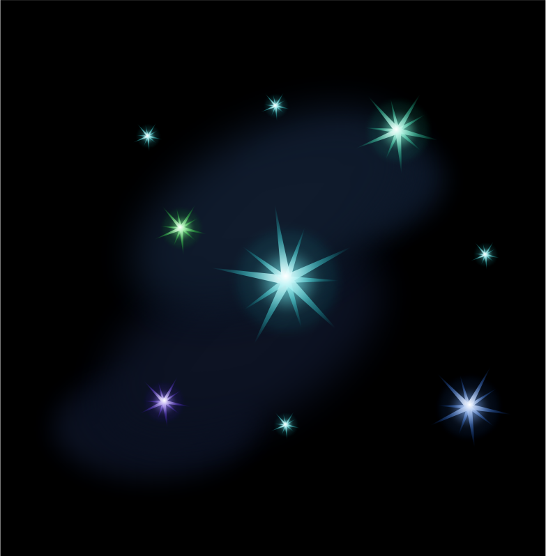 Starry night by Magnesus - Stars on a simple background