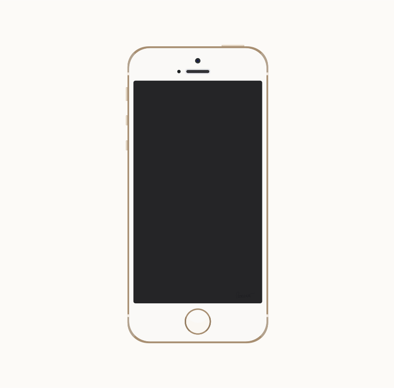 Gold iPhone 5s by barrettward - A fairly accurate gold iPhone 5s with detailed camera and speaker mesh.