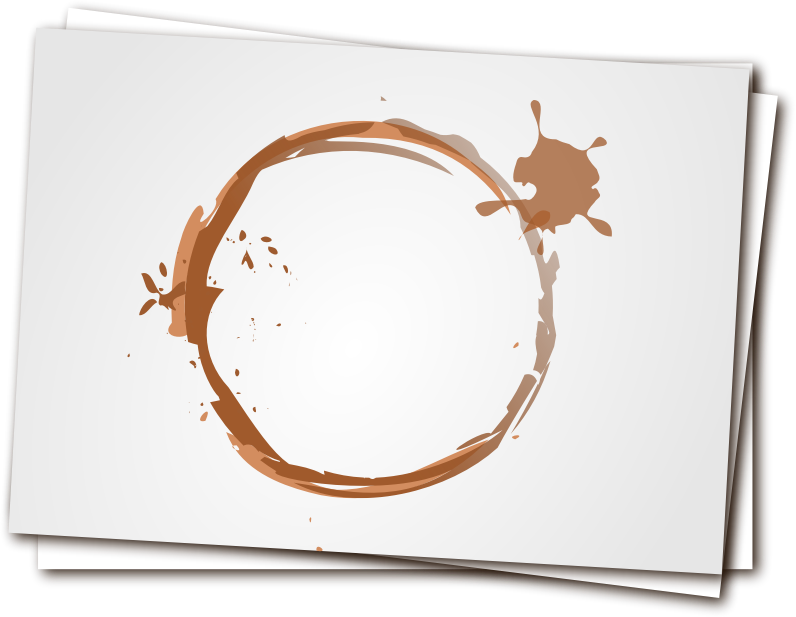 Coffee stain by liftarn - Coffee stain on notes.