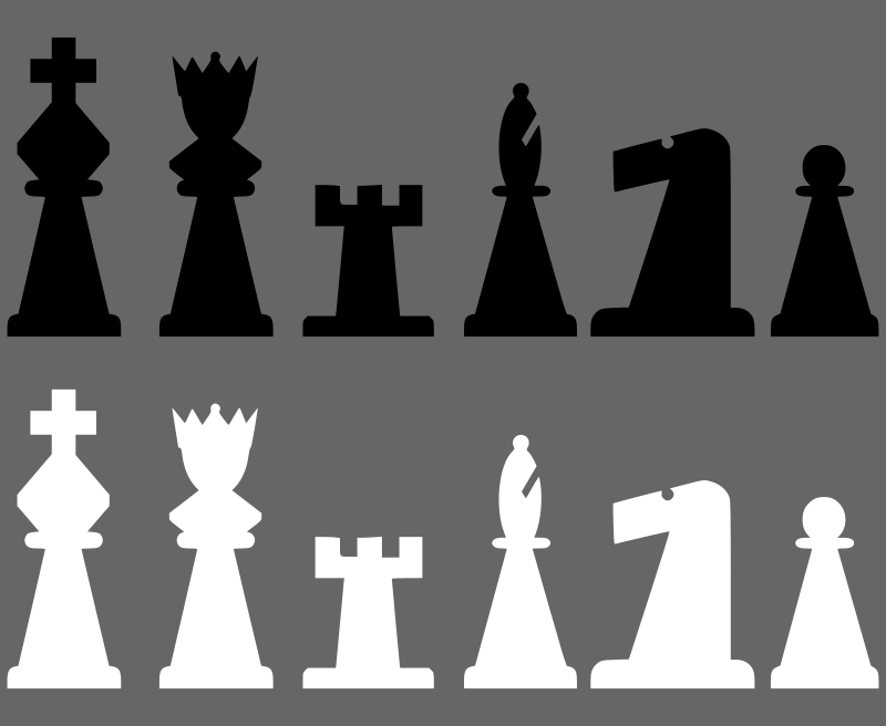 2D Chess set - Pieces 1 by portablejim - chess pieces