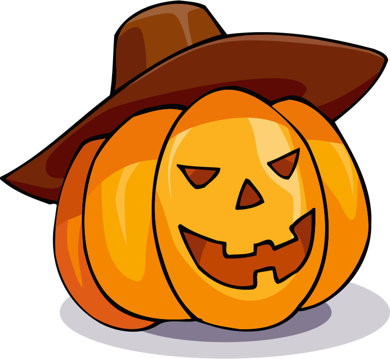 Pumpkin in a hat by Magnesus - A brighter coloured version of the pumpkin in a hat. Remixed for my Mahjong HD Android game.