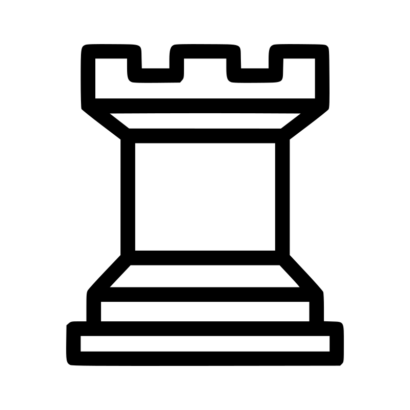 Chess tile - Rook 3 by portablejim - chess