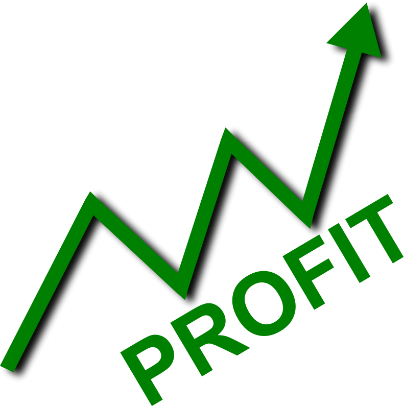 Profit Curve by simpletutorials.net - This is a common graph depiction of profit for a company on its way up.