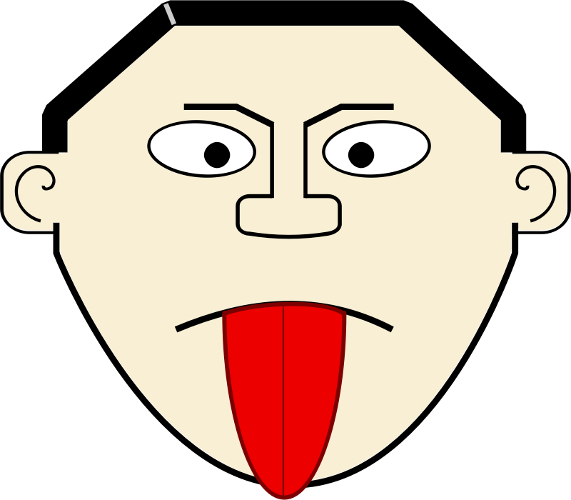 Cartoon Tongue by Arvin61r58 - Silly stick tongue cartoon figure.