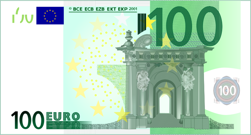 100 Euro Note by frankes