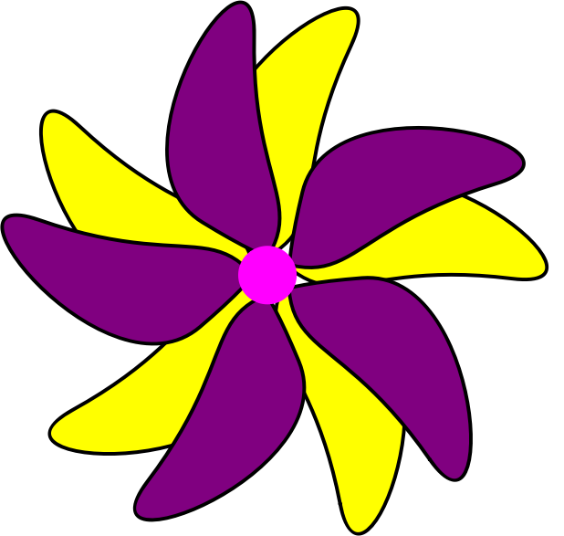 Flower - Purple and Yellow by simpletutorials.net