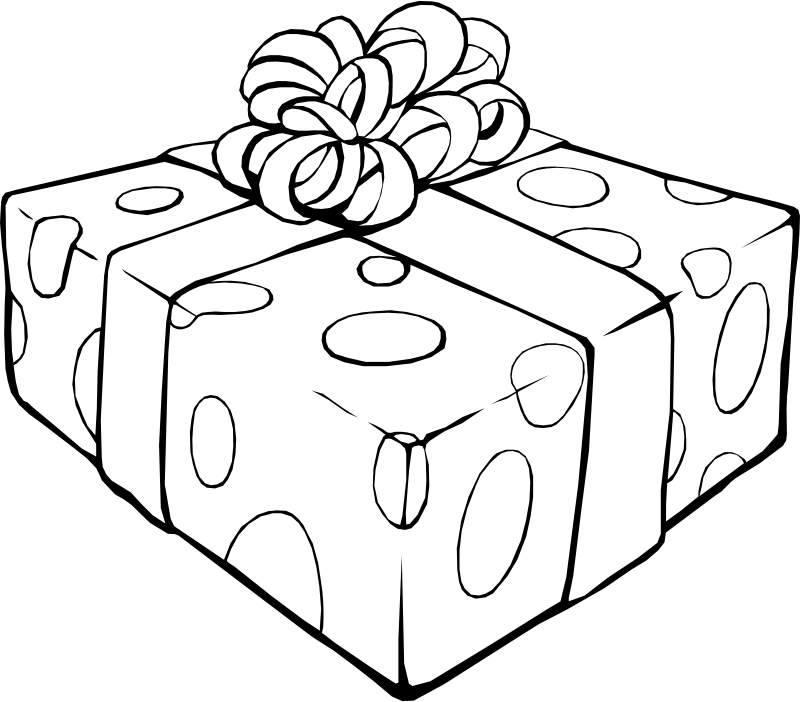 Gift Coloring Page by pianoBrad - A Gift Coloring Page