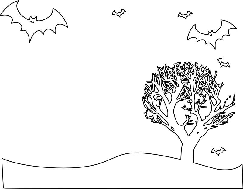 Halloween Landscape Coloring Page by pianoBrad