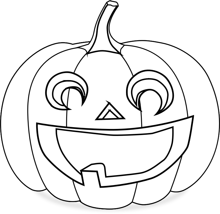 Jack O Lantern Clipart Black And White Free