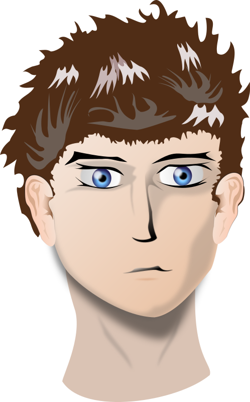 head by adrix89 - A manga head.