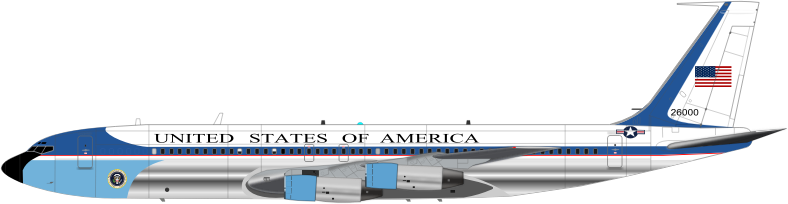 AIR FORCE ONE by charner1963 - MADE WITH INKSCAPE (THE SUPERB PRESIDENTIAL SEAL IS NOT MINE)