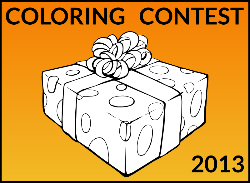 Join Openclipart Coloring Contest! by openclipart - At Openclipart, we are in the Holiday Spirit! To help celebrate the 50K milestone, we are launching a Coloring Contest! Enter for a chance to win a Nexus 7! Details can be found at www.openclipart.org/coloring-contest-2013
