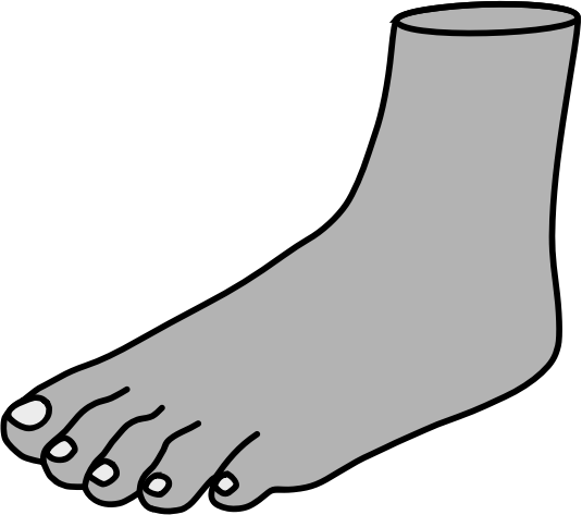 Foot by alastairjtp - Simple image of a foot.