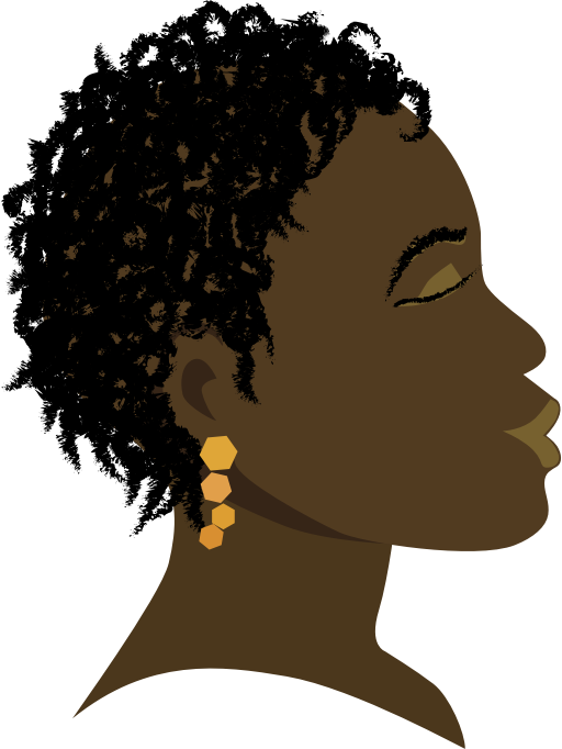 African Girl Profile by hebron - A side view of an African girl with twist braids hairstyle.