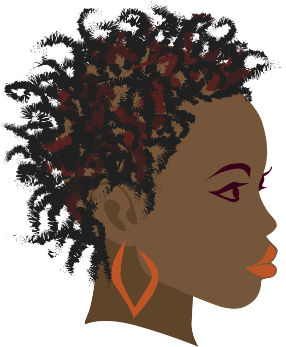 African Girl 2 by hebron - A side view of an African girl with twist braids hairstyle.