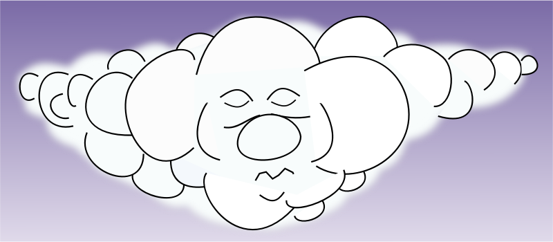 Sleeping cloud by arking - sleeping cloud, schlafende wolke, cloud, clipart, cartoon, Wolke, Himmel, nuage, la nube, nuvola, 云 [雲], о́блако, nuvem, рису́нок, drawing