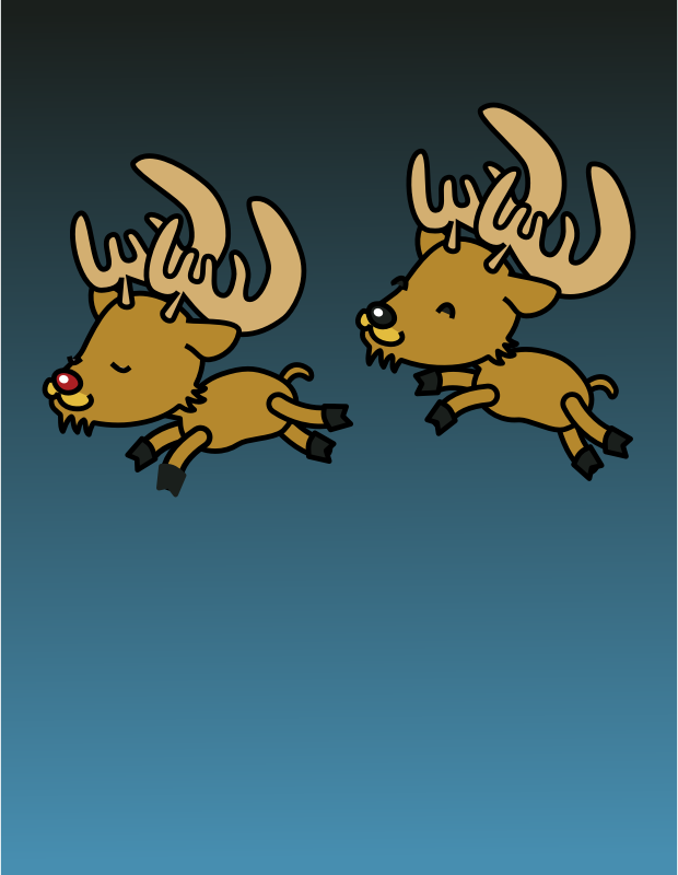 Caribou colored by johnny_automatic - one might be Rudolph