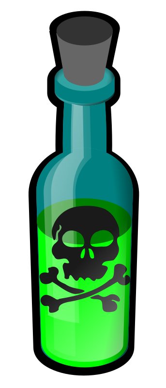 poison bottle by papapishu -