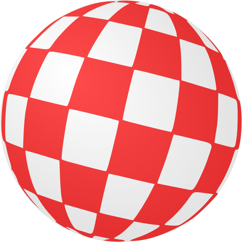 Checkered Ball by Arvin61r58 - A tribute to Amiga computers. (Boing Ball)