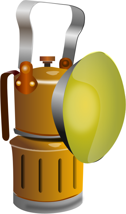 Miner lamp, Lámpara de minero by juliocesarfx