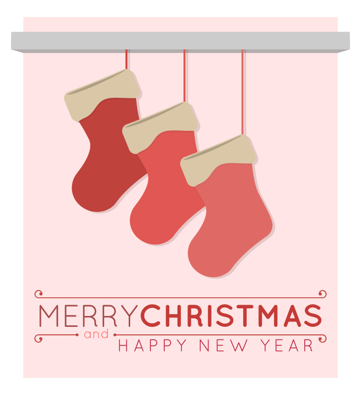 Christmas Stockings Merry Christmas Card by barrettward - christmas & new year greeting card template