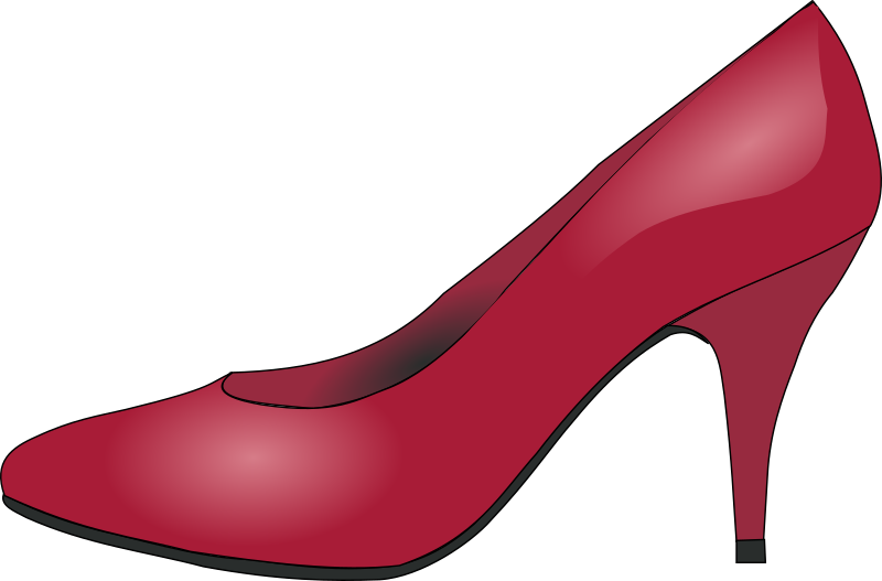 red shoe by papapishu - Based on http://commons.wikimedia.org/wiki/File:Red_High_Heel_Pumps.jpg
