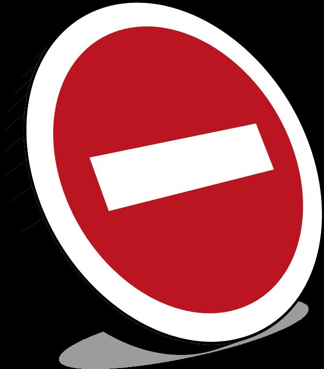 Clipart no entry sign panneau sens interdit - Panneau sens interdit ...