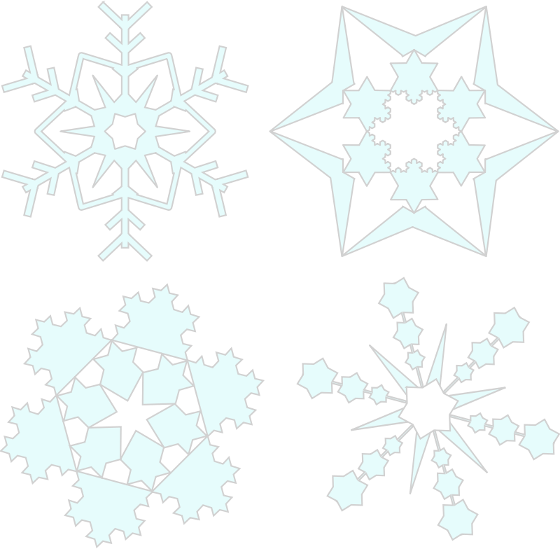 Snowflakes by Arvin61r58 - Four (4) snowflakes
