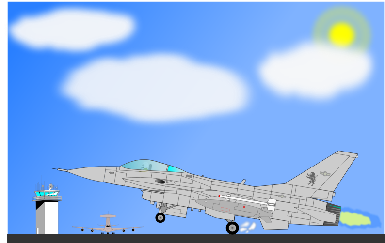 F-16 by charner1963 - MADE WITH INKSCAPE