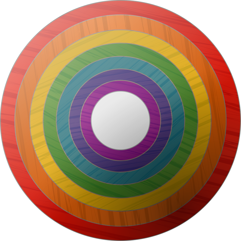 rainbowbutton by ohbjoern - rainbowbutton with wooden texture