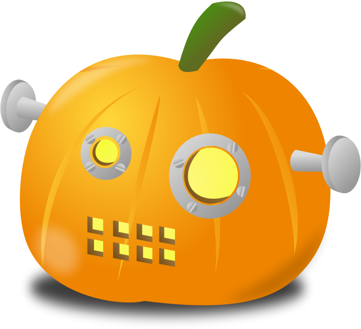 Robot pumpkin by nicubunu - Carved pumpkin for Halloween