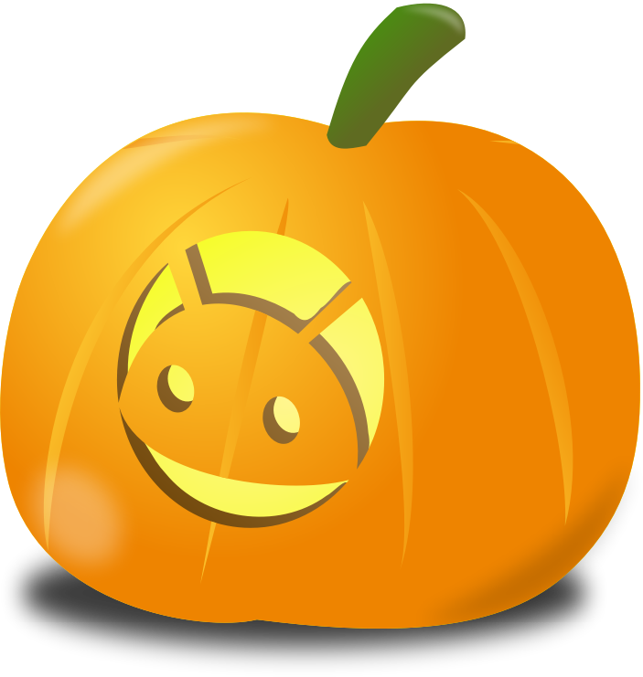 Android pumpkin by nicubunu - Carved pumpkin for Halloween