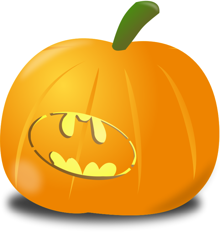 Clipart - Bat pumpkin