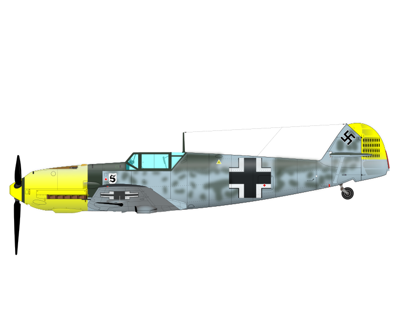 ME-109 by charner1963 - MADE WITH INKSCAPE