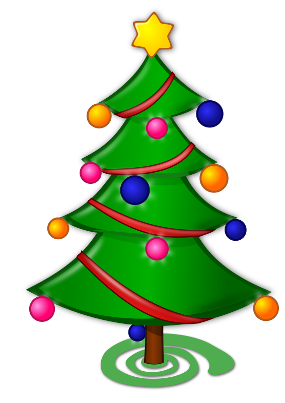 Clipart - Colored: Christmas Tree