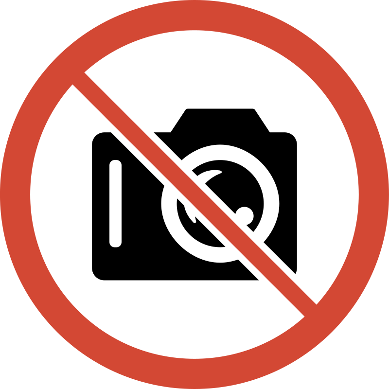 No Camera Sign by libberry - This is a modified version.