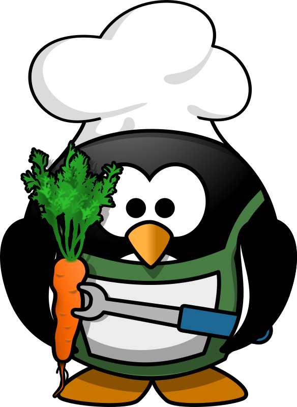 Veggie-Penguin by Moini - A carrot a day... keeps the penguins alive!