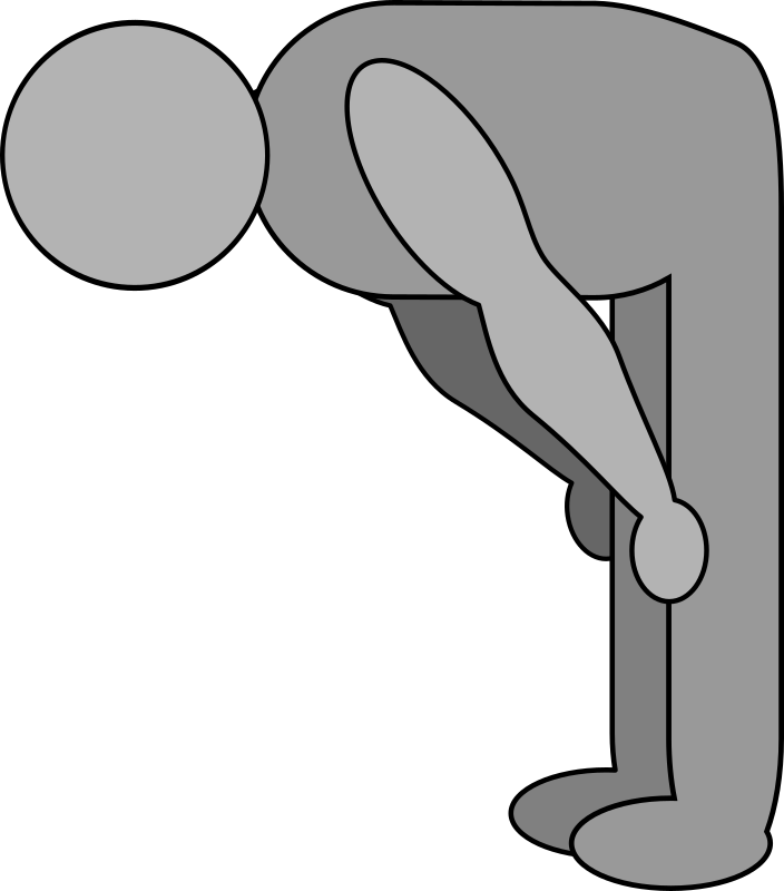 shaded bowing figure by evilestmark - Simplistic shape of a figure bowing in the Japanese style.