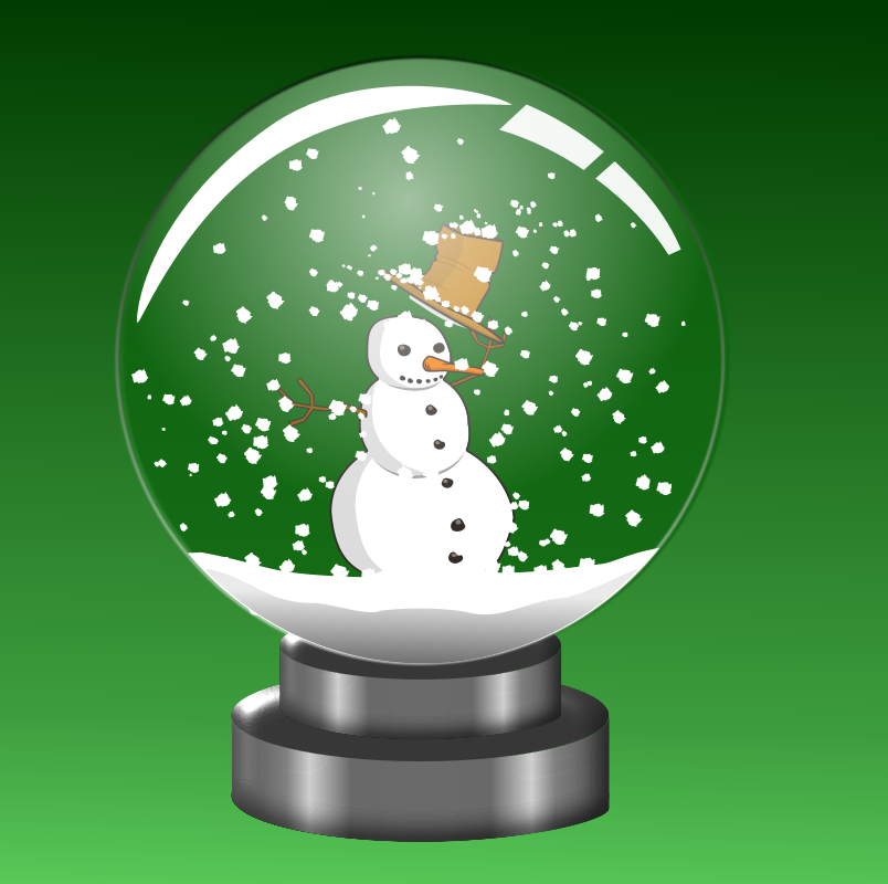 Snow Globe Snowman by doodler - It seems I liked my snow globe so much I had to stick a snowman in it.  Snowman is a remix item.