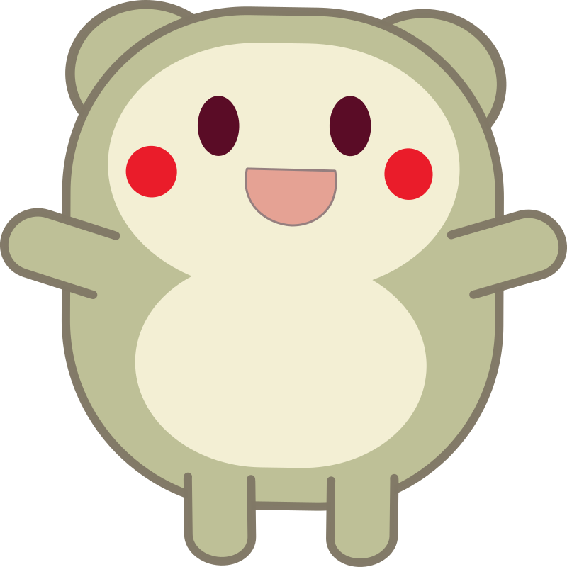 Cute grey critter by anarres - A cute, happy cartoon creature