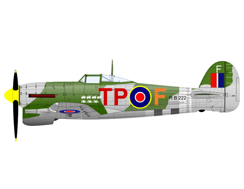 HAWKER TYPHOON by charner1963 - MADE WITH INKSCAPE