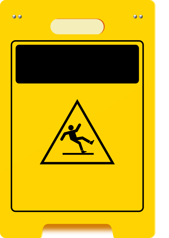 wet-floor-plaque by voyeg3r - One simple wet floor warning