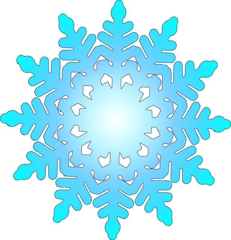 Clipart - snow flake 1