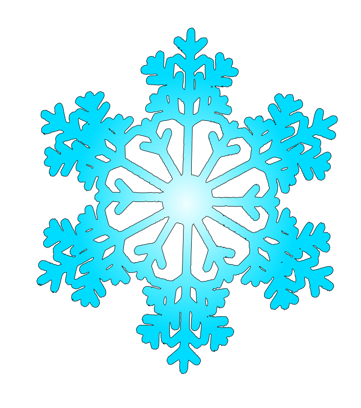 Clipart - snow flake 6