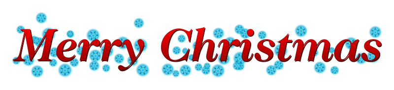 "Merry Christmas banner by jhnri4 - ""Merry Christmas"" banner with snowflakes and red text."