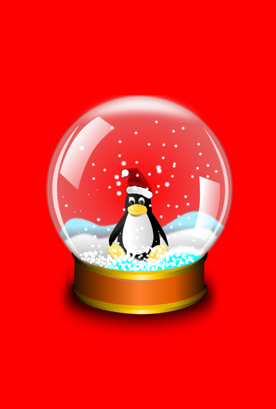 Snow globe large by roshellin