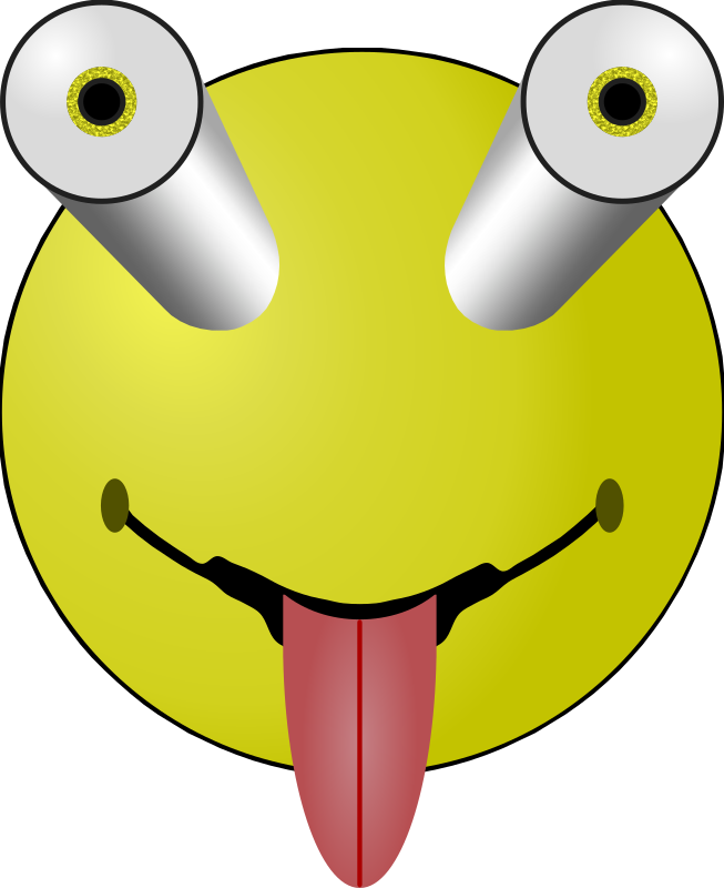 Bug Eyed and Tounge by Arvin61r58 - Bug eyed smiley/happy face with tounge